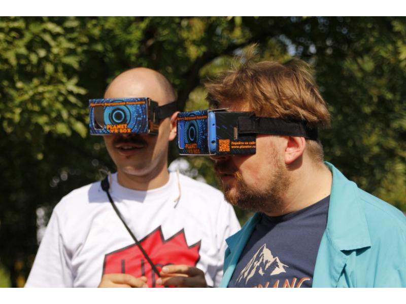 Очки виртуальной реальности PlanetVR на VK FEST